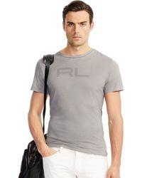Ralph Lauren Black Label Logo Pima Cotton T-shirt - Lyst
