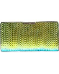 MILLY - Miley Holographic Frame Clutch Bag Greenblue - Lyst