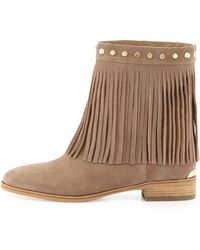 MICHAEL Michael Kors Billy Studded Fringe Bootie - Lyst