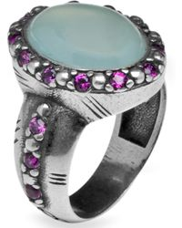 Platadepalo - Silver Ring With Chalcedony - Lyst