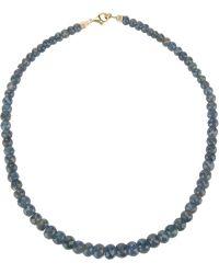 Uzerai Edits - Rough Sapphire Necklace - Lyst