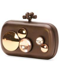 Bottega Veneta Mirror Lens Knot Clutch Bag - Lyst