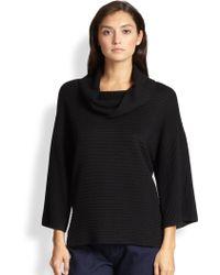 St. John Striped Knit Tunic - Lyst