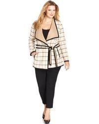 Jones New York Signature Plus Size Printed Tiefront Jacket - Lyst