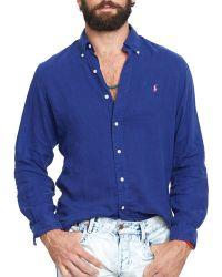 Ralph Lauren Polo Linen Shirt - Lyst