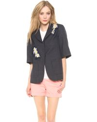 Creatures of the Wind - Cropped Sleeve Jacket with Applique - Lyst