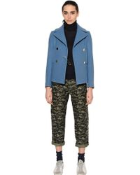 Golden Goose Deluxe Brand - Wool Cloth Peacoat With Safety Pin - Lyst