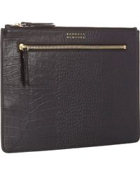 Barneys New York Croc-stamped Large Pouch - Lyst