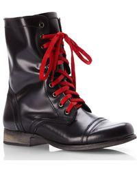 Steve Madden Black Troopale Combat Boots - Lyst