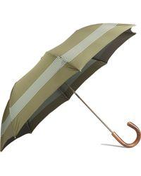 Barneys New York Striped Folding Umbrella - Lyst