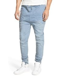 I Love Ugly - 'zespy' Moto Denim Jogger Pants - Lyst