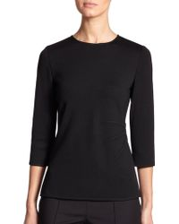 St. John Darted Knit Top - Lyst