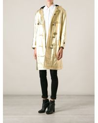 Yves Saint Laurent Vintage Toggle Fastening Coat - Lyst