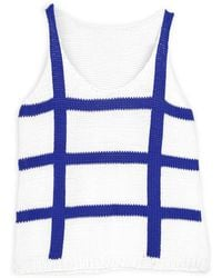 Wool And The Gang Us Knots 'N' Crosses Tank white - Lyst