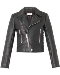 Balenciaga Leather Biker Jacket - Lyst