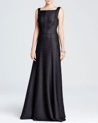 Vera Wang Gown - Sleeveless Square Neck Pintuck - Lyst