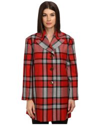 Vivienne Westwood Red Label Plaid Oversize Coat - Lyst