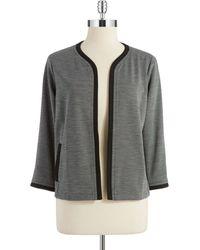 Jones New York Knit Open Front Blazer - Lyst