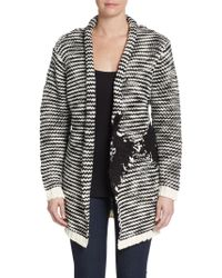 Shae Nubby Striped Cardigan - Lyst