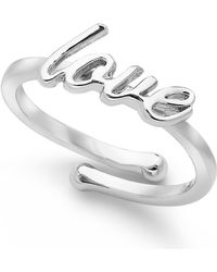 "Kate Spade ""Love"" Adjustable Ring - Lyst"