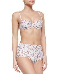 Carolina Herrera Retro Mushroom-Print Two-Piece Swimsuit - Lyst