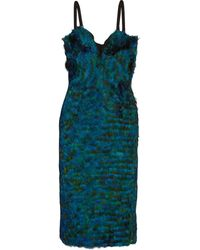 Burberry Prorsum Featherembellished Silk Dress - Lyst