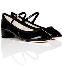 Repetto Patent Leather Mid-heel Mary-janes - Lyst