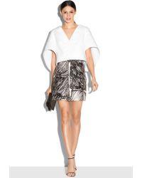 Milly | Scribble Print Modern Mini Skirt | Lyst