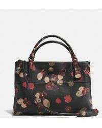 Coach Turnlock Borough Bag in Floral Print Leather - Lyst