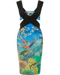 Mary Katrantzou Jazzy Dress Ramora Ocean - Lyst