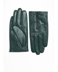 & Other Stories - Zipped Leather Gloves - Lyst