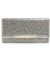 Jimmy Choo 'Marilyn' Leopard Print Glitter Clutch - Metallic - Lyst