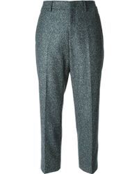 Jil Sander Tapered Cropped Trousers - Lyst