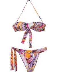 Emilio Pucci Printed Bikini - Lyst