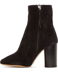 Isabel Marant Black Suede Garbo Bootsy Boots - Lyst