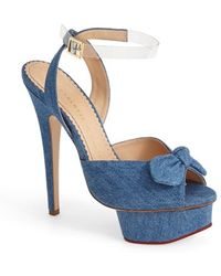 Charlotte Olympia 'Serena' Ankle Strap Sandal - Lyst