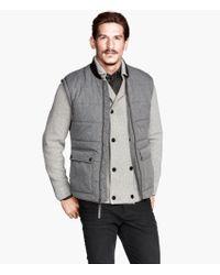 H&M Padded Waistcoat - Lyst