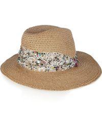 Eugenia Kim Gabriella Embellished Woven Hat - Lyst