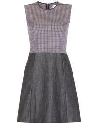 Victoria Beckham Cotton-Blend Dress - Lyst