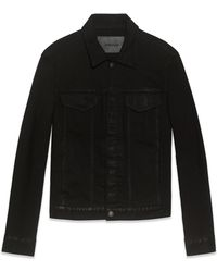 Helmut Lang Trace Denim Jacket black - Lyst