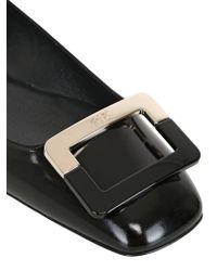 Roger Vivier 10mm U Look Buckle Leather Ballerinas - Lyst