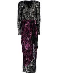 Alessandra Rich Long Dress gray - Lyst