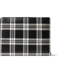 Alexander McQueen Checked Leather Pouch - Lyst