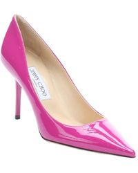 Jimmy Choo Fuchsia Patent Leather Agnes Pumps - Lyst