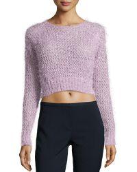 Dex Knit Cropped Sweater - Lyst