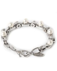 Joomi Lim - Double Row Chain Pearl Bracelet - Lyst