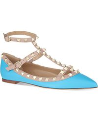 Valentino Leather Ballet Flats - For Women - Lyst