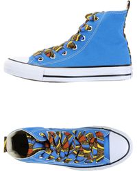 Converse High-Tops & Trainers blue - Lyst
