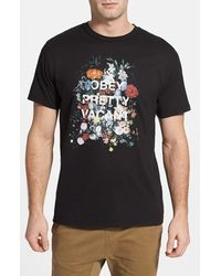 Obey Steal Life Cotton T-Shirt - Lyst