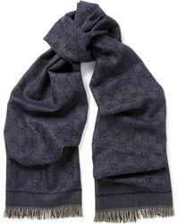 Gucci Jacquardknit Wool Scarf - Lyst